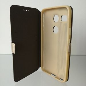 Флип страничен Book Pocket LG Nexus 5X Златен