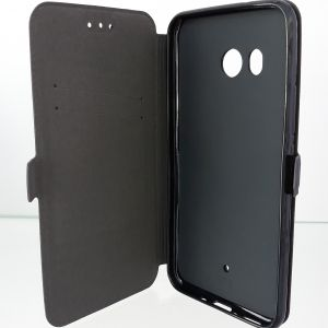Странична папка Book Pocket - HTC U11 Black