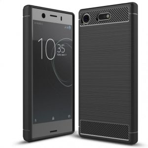 Гръб мек Carbon Sony Xperia XZ1 Black