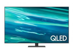 Телевизор Samsung 65'' 65Q80A QLED FLAT, SMART, 3800 PQI, Dual LED, Direct Full Array 8x, Micro Dimming, Quantum HDR 1500, HDR 10+, Dolby Digital Plus, Q-Symphony, Mirroring, Bixby, Bluetooth 4.2, Wi-Fi 5, 4xHDMI, 2xUSB, Frameless, Tizen, Graphite