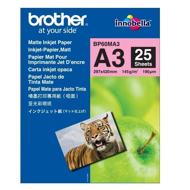 Хартия Brother BP-60 A3 Innobella Matt Photo Paper (A3/25 sheets)