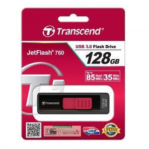 Флаш памет Transcend 128GB Jetflash 760 USB 3.0, Red, TS128GJF760