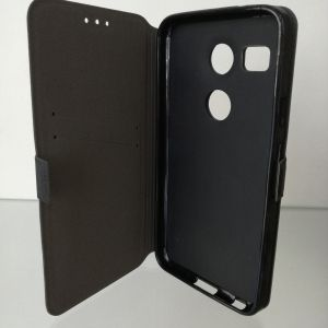 Флип страничен Book Pocket LG Nexus 5X Черен