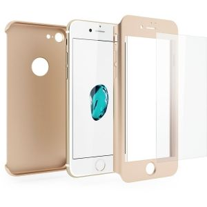 Hybrid case with tempered glass iPhone 7 (4.7) Gold