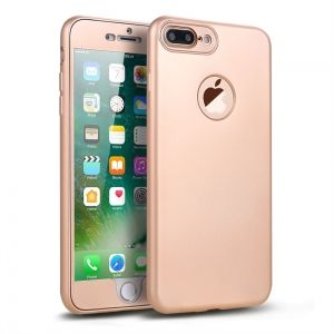 Full Body TPU Case 360 - iPhone 7 plus - Gold